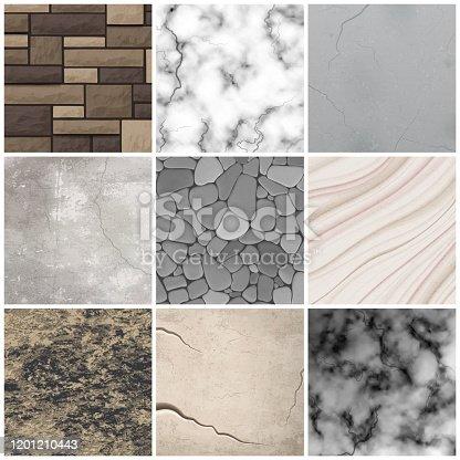istock realistic stone texture set 1201210443