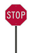 istock Realistic Stop road sign 1205728869