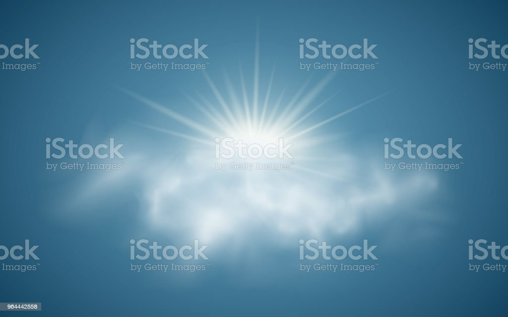 Realistic Sun With Clouds Sunlight Sun Rays Transparent