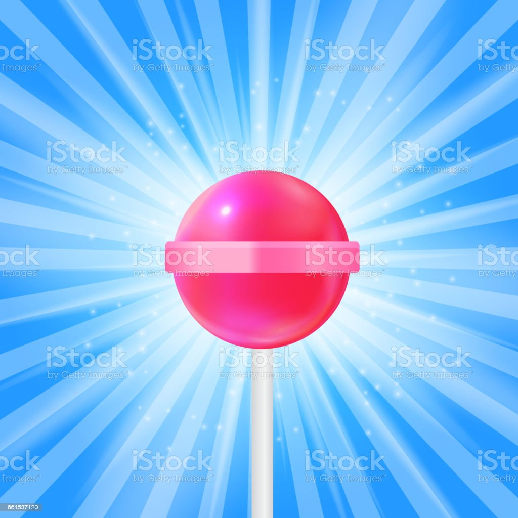 Realistic Sweet Lollipop Candy Background. Vector Illustration royalty-free realistic sweet lollipop candy background vector illustration stock vector art & more images of backgrounds