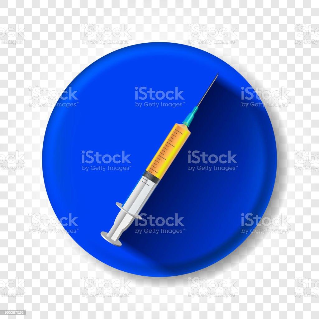 A realistic syringe with medicine. Vector illustration a realistic syringe with medicine vector illustration - stockowe grafiki wektorowe i więcej obrazów apteka royalty-free