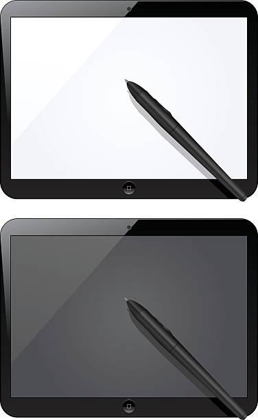 realistyczne tablet z pustego ekranu. podobne do ipada - ipad stock illustrations