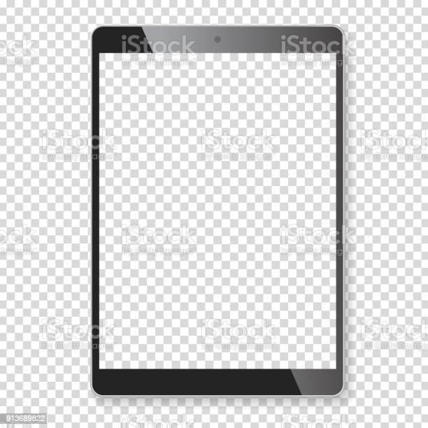 Vetores de Maquete De Computador Portátil Tablet Realista e mais imagens de Aplicação móvel