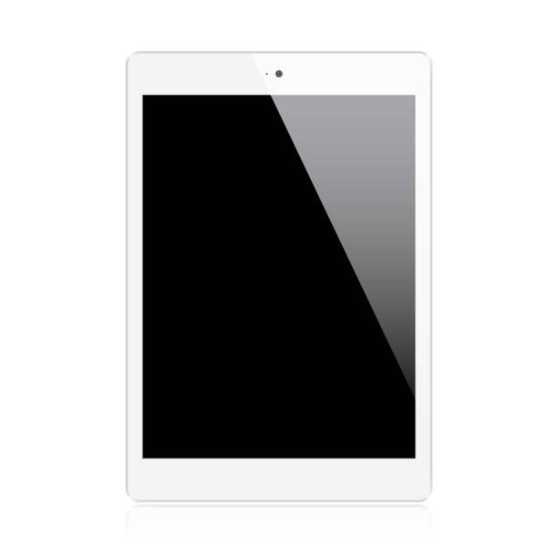 stockillustraties, clipart, cartoons en iconen met realistic tablet - leeg toestand
