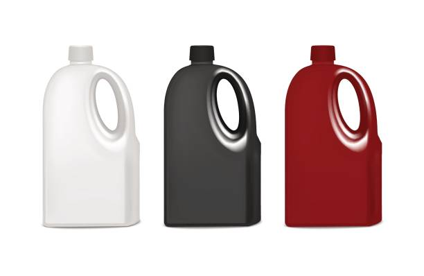 realistic template blank color plastic bottle set. vector - bleach stock illustrations