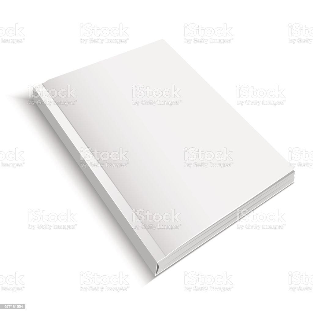 Realistic Template Blank White Journal or Magazine. Vector vector art illustration