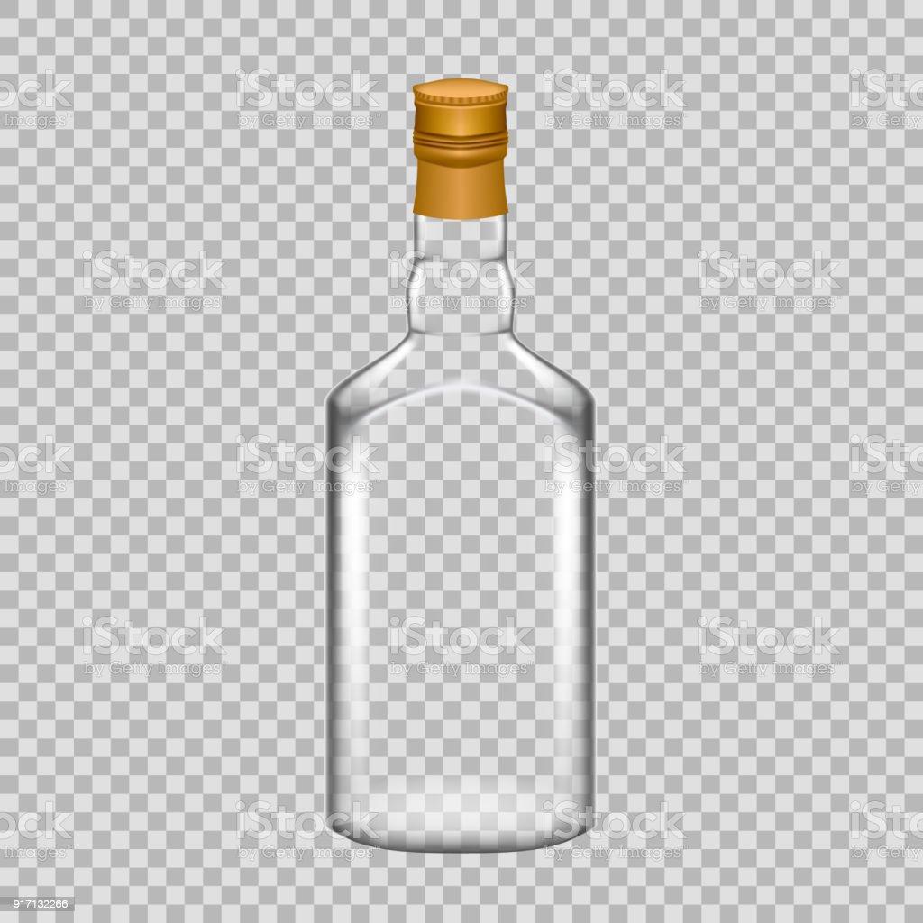 realistische vorlage leere glas whiskyflasche mit schraubverschluss stock vektor art und mehr. Black Bedroom Furniture Sets. Home Design Ideas
