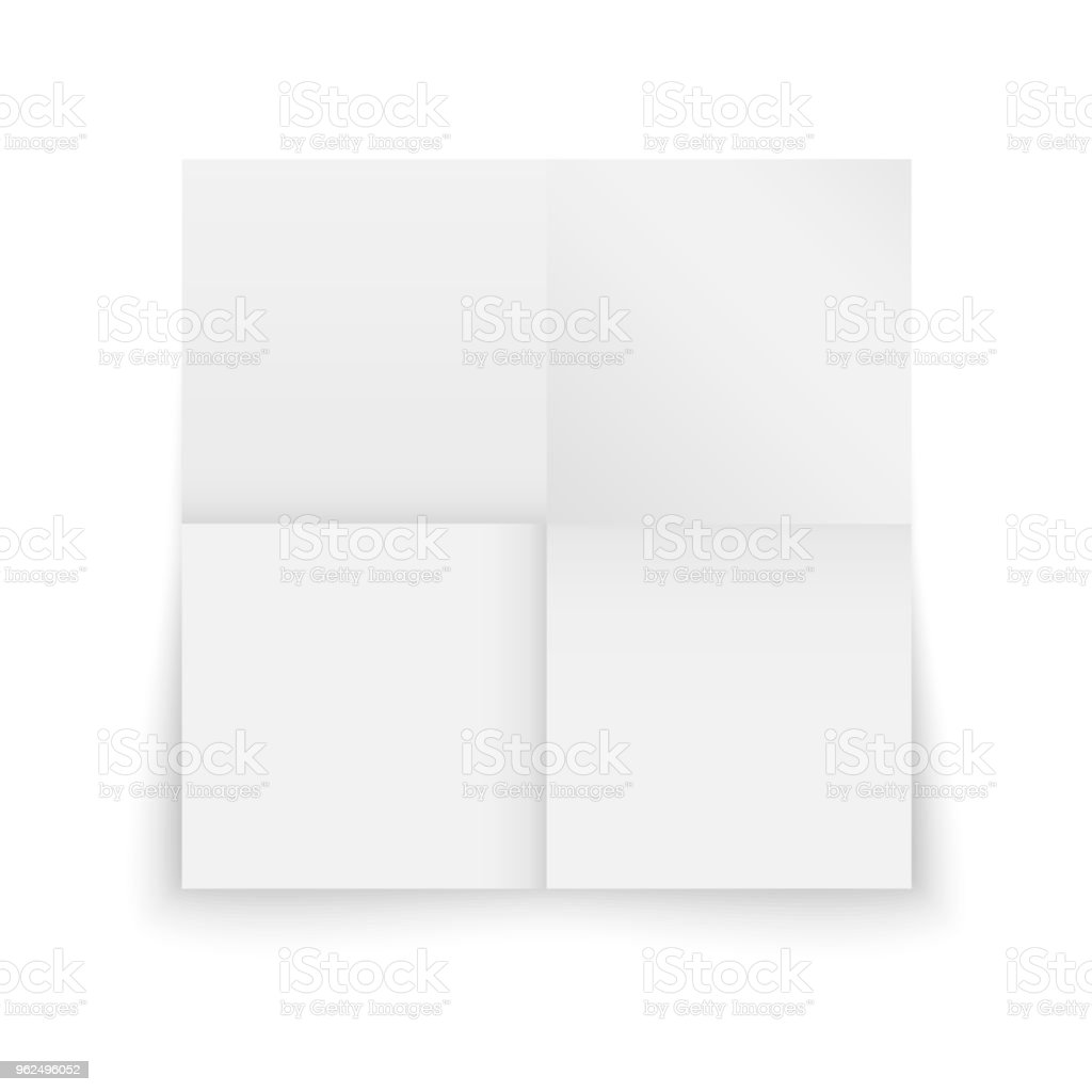 Realistic template sheet folded of paper - Royalty-free Abstract stock vector