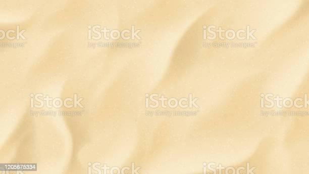 Реалистичная Текстура Пляжного Песка — стоковая векторная графика и другие изображения на тему Векторная графика