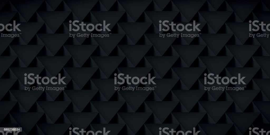 Realistic texture, volume triangles, black geometric pattern, vector design 3d dark wallpaper royalty-free realistic texture volume triangles black geometric pattern vector design 3d dark wallpaper stock vector art & more images of abstract