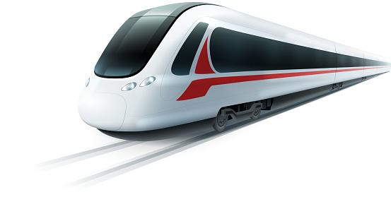 realistic train isolated