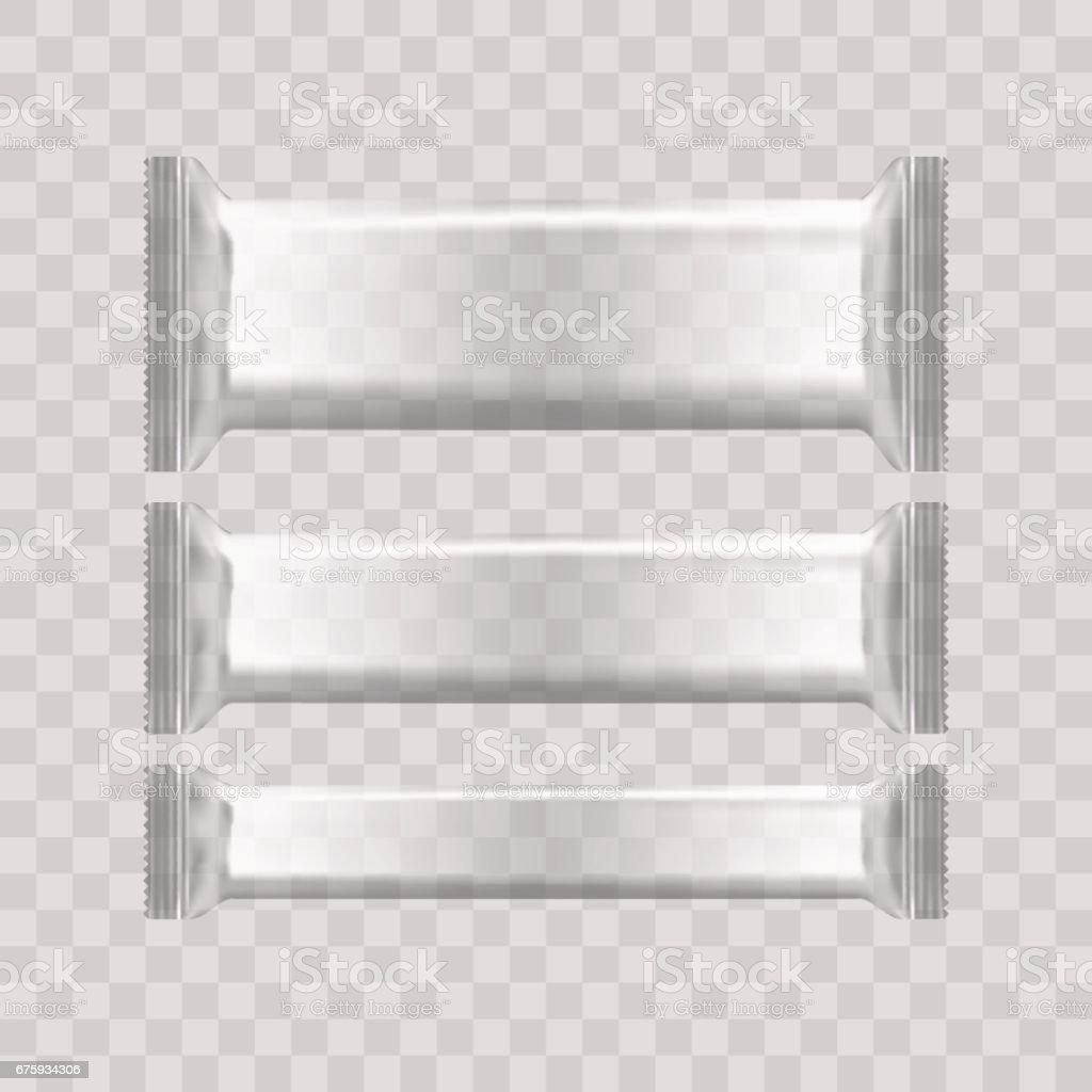 Realista Plantilla En Blanco Transparente Paquetes De Papel Para ...