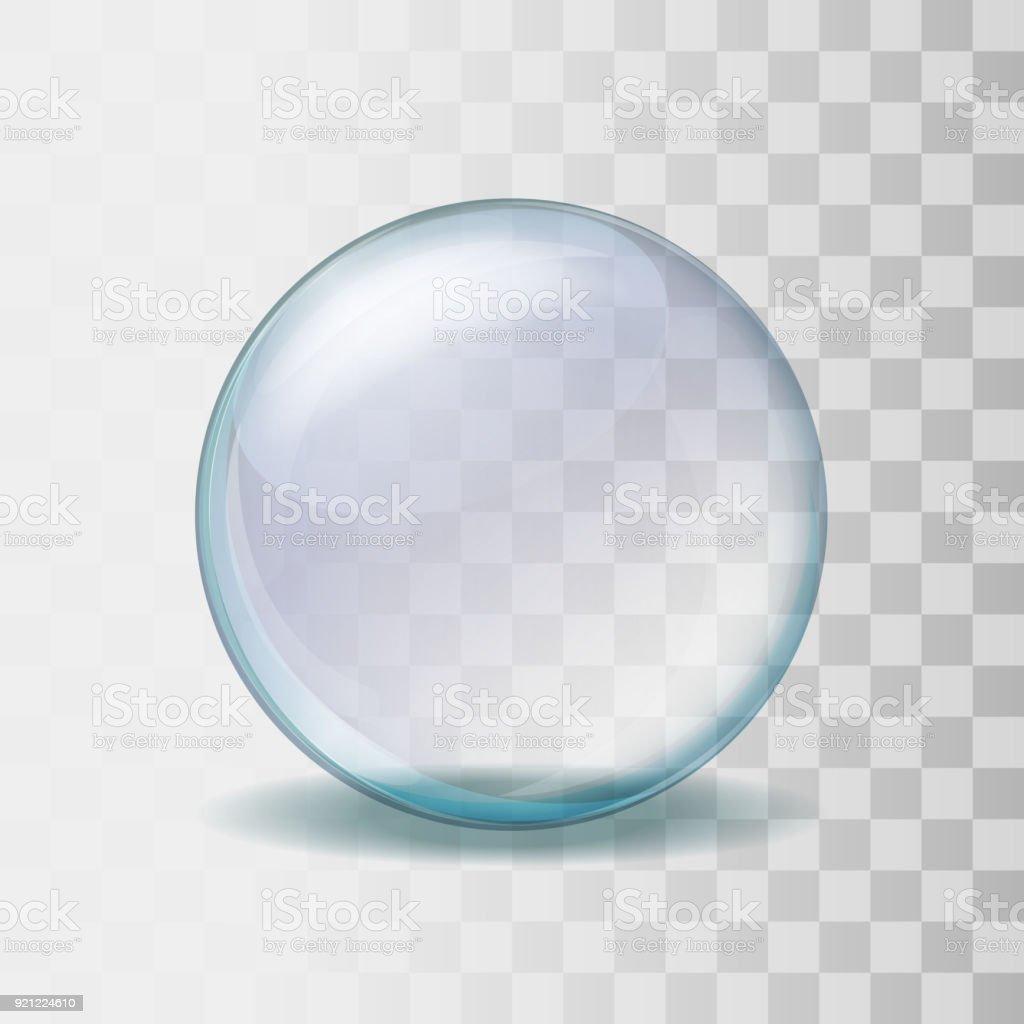 Ilustración de esfera de vidrio transparente realista - ilustración de arte vectorial