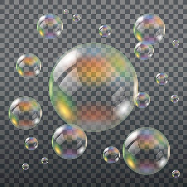 realistische transparente soap bubbles - naturseife stock-grafiken, -clipart, -cartoons und -symbole