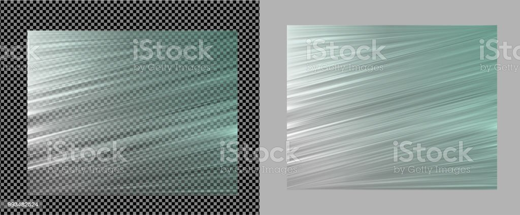 Realistic Transparent Vector Plastic Wrapper Stock
