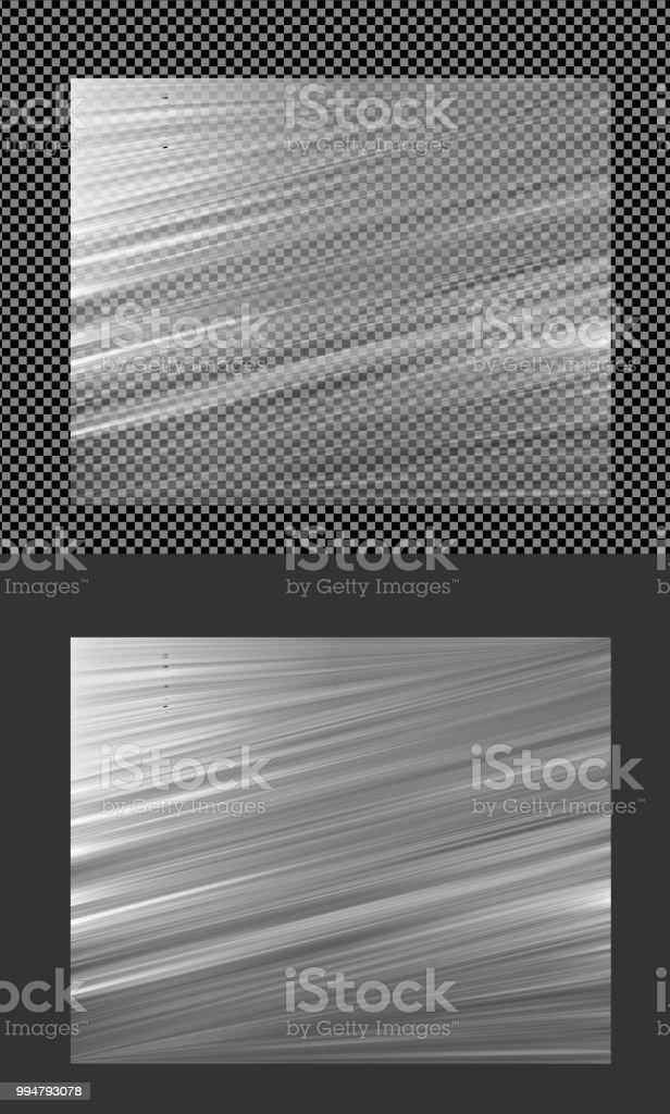 Realistic Transparent Vector Plastic Wrapper Stock Vector