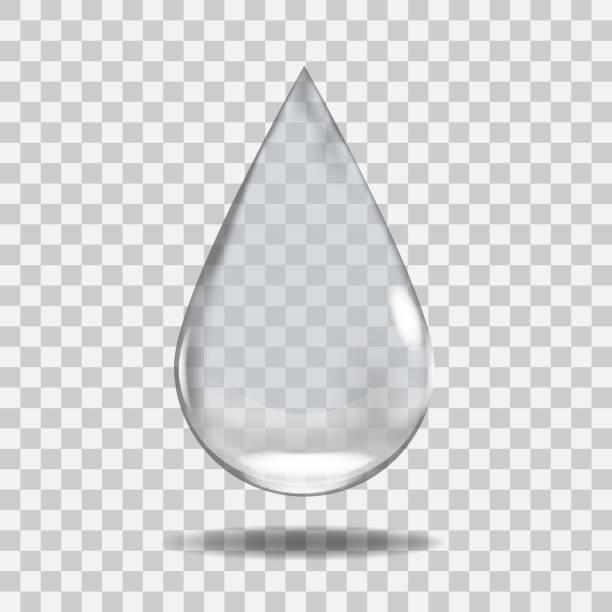 リアルな透明な水ドロップします。任意の背景で役に立つ。 - 水滴点のイラスト素材/クリップアート素材/マンガ素材/アイコン素材