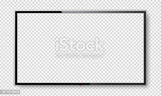 istock Realistic TV screen mock up 911015916