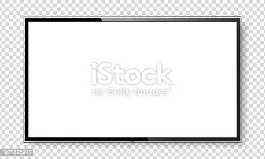 istock Realistic TV screen mock up 922865912