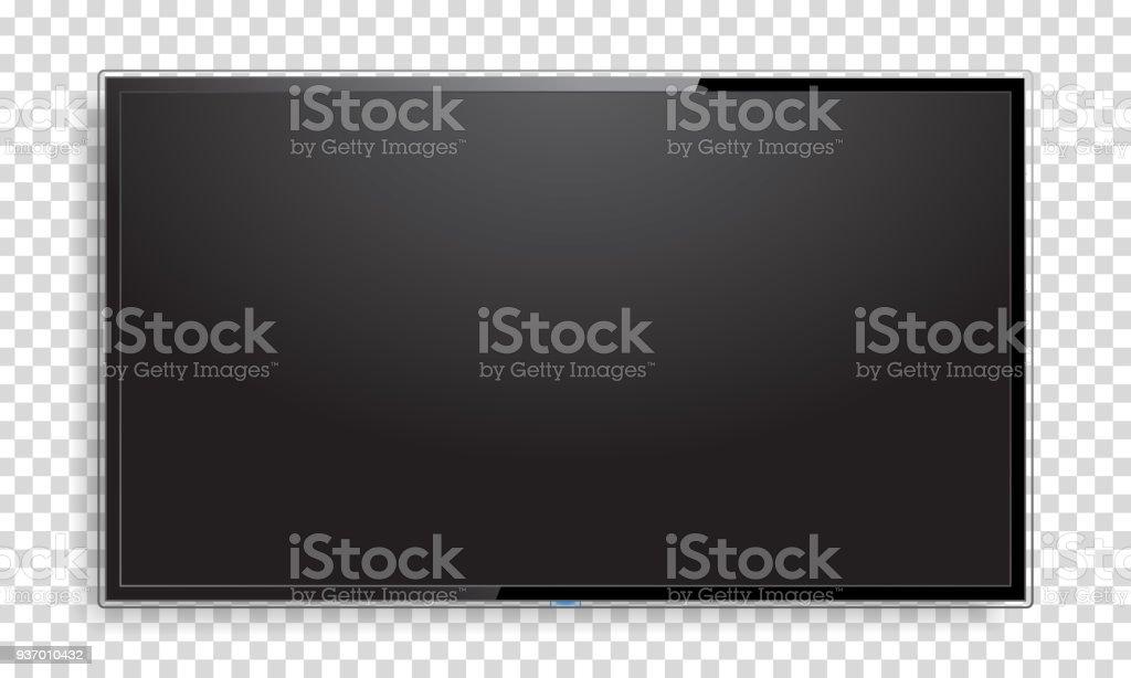 Realistische Fernsehbildschirm mock-up - Lizenzfrei Auslage Vektorgrafik