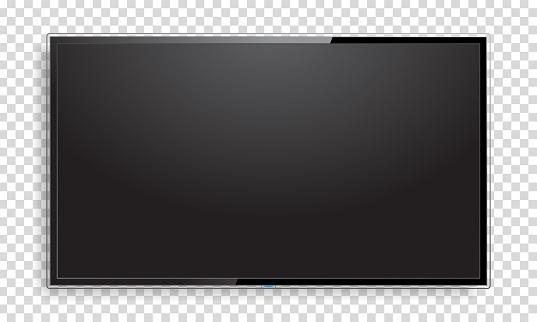 Realistische Fernsehbildschirm Mockup Stock Vektor Art und mehr Bilder von Auslage