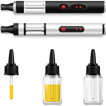 realistic vaping liquid electronic cigarette set
