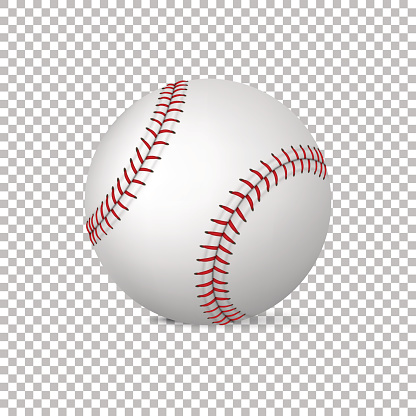 Realistic vector baseball isolated, Design template in EPS10