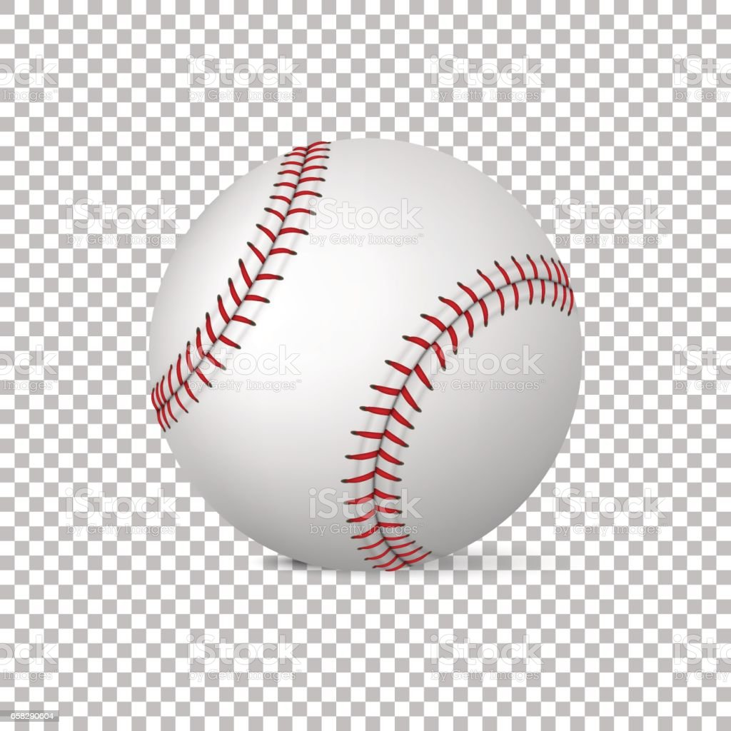 Realistic vector baseball isolated, Design template in EPS10 vector art illustration