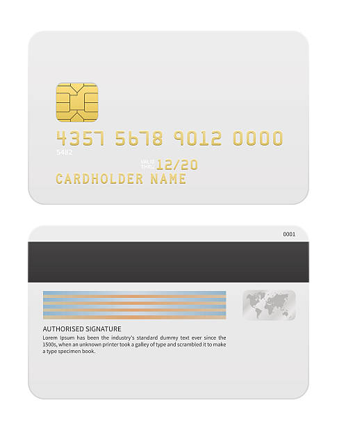 Realistic Vector Credit cards isolated on white background vector art illustration