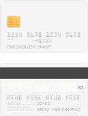 Realistic vector credit cards mockup.