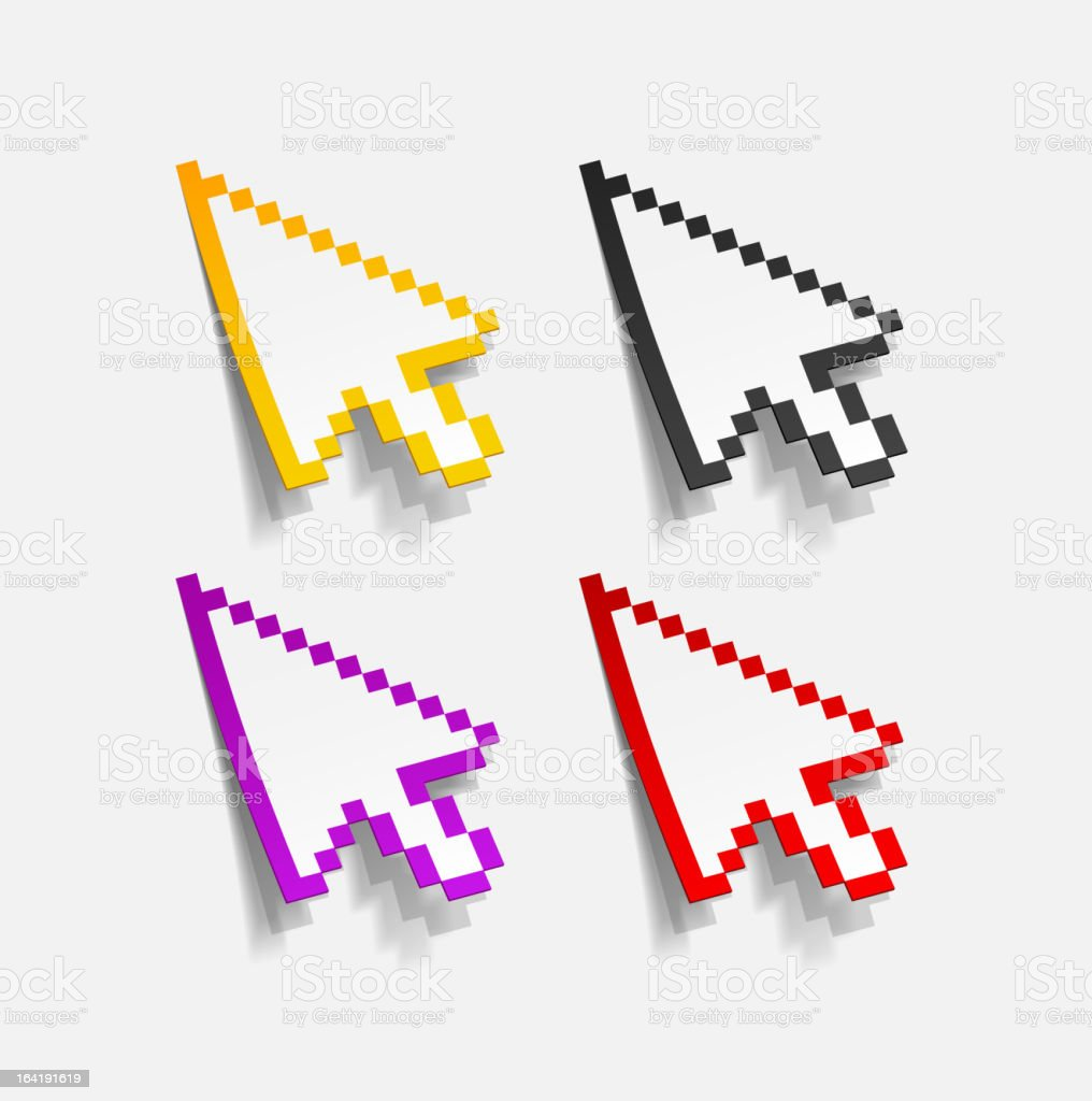 realistic vector cursor royalty-free realistic vector cursor stock vector art & more images of arrow symbol