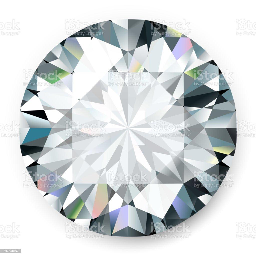 Realistic vector diamond isolated on white background vector art illustration