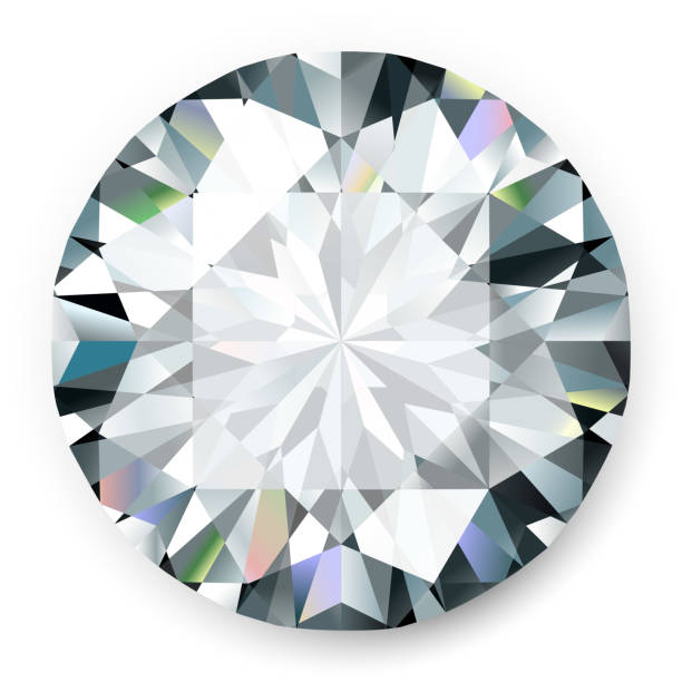 realistic vector diamond isolated on white background - diamond shaped stock illustrations, clip art, cartoons, & icons