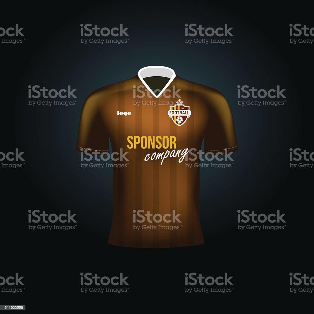 Realistic vector football uniform. Branding mockup. Soccer team clothing. Front vector art illustration
