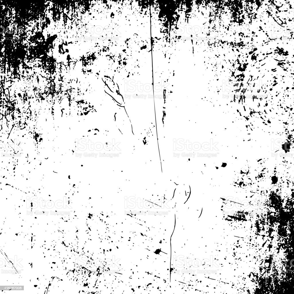 Realistic vector grunge black and white Texture vector art illustration