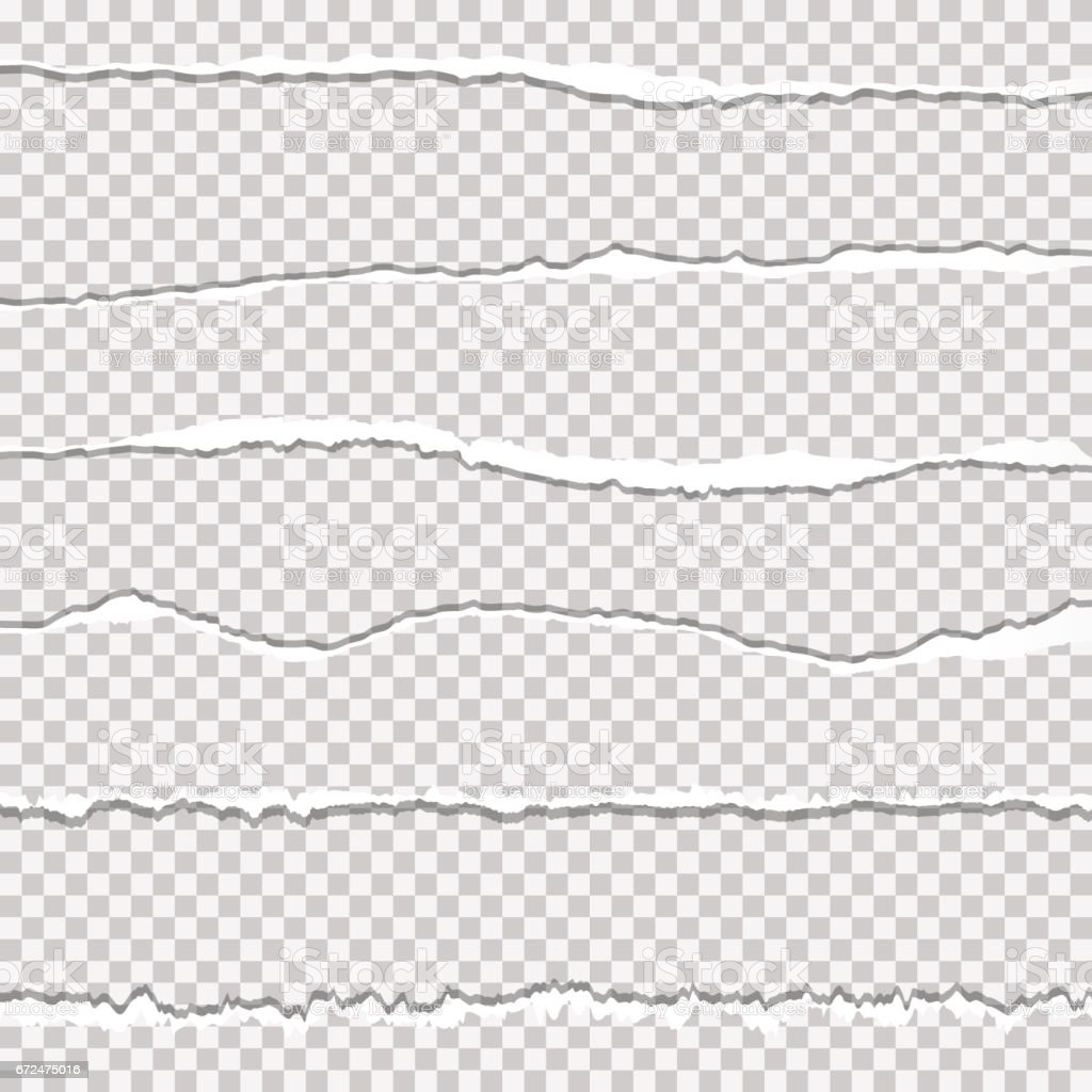 Realistic vector hole paper with ripped edges with space for your text. vector art illustration