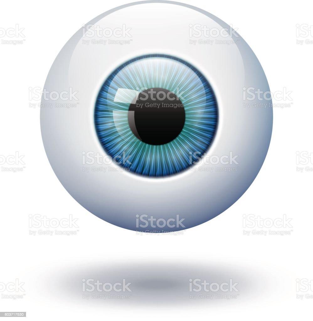 Boule De Bleu Vert Yeux Azur Realiste Vector Illustration 3d Image Vecteurs Libres De Droits Et Plus D Images Vectorielles De Abstrait Istock