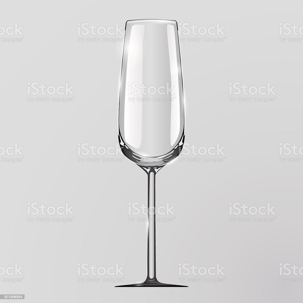Realistic vector illustration of a champagne glass. vector art illustration