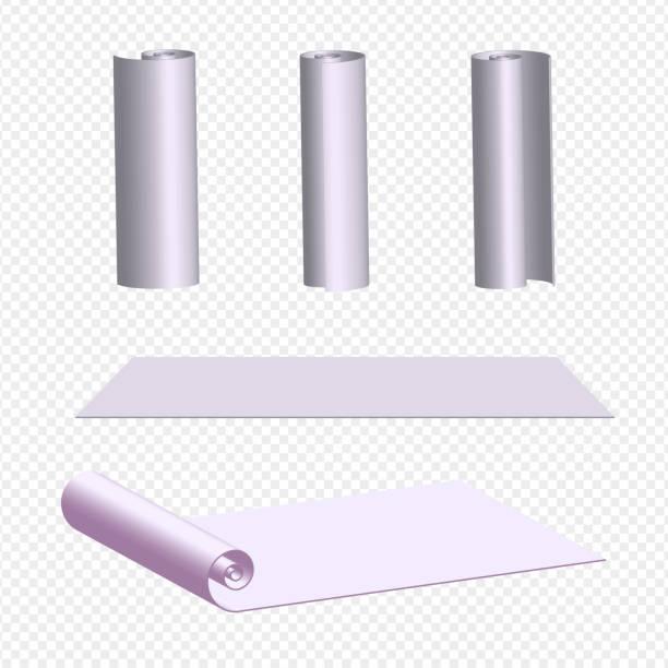 Illustration vectorielle réaliste d'un rouleau de papier pour les murs - Illustration vectorielle