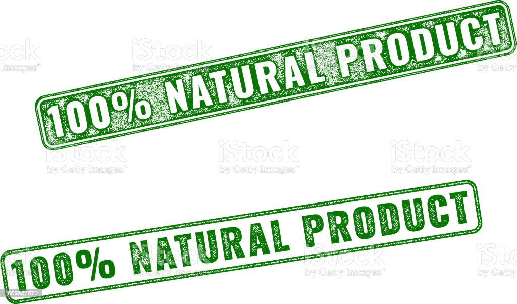 Realistic vector Natural Product rubber stamp vector art illustration