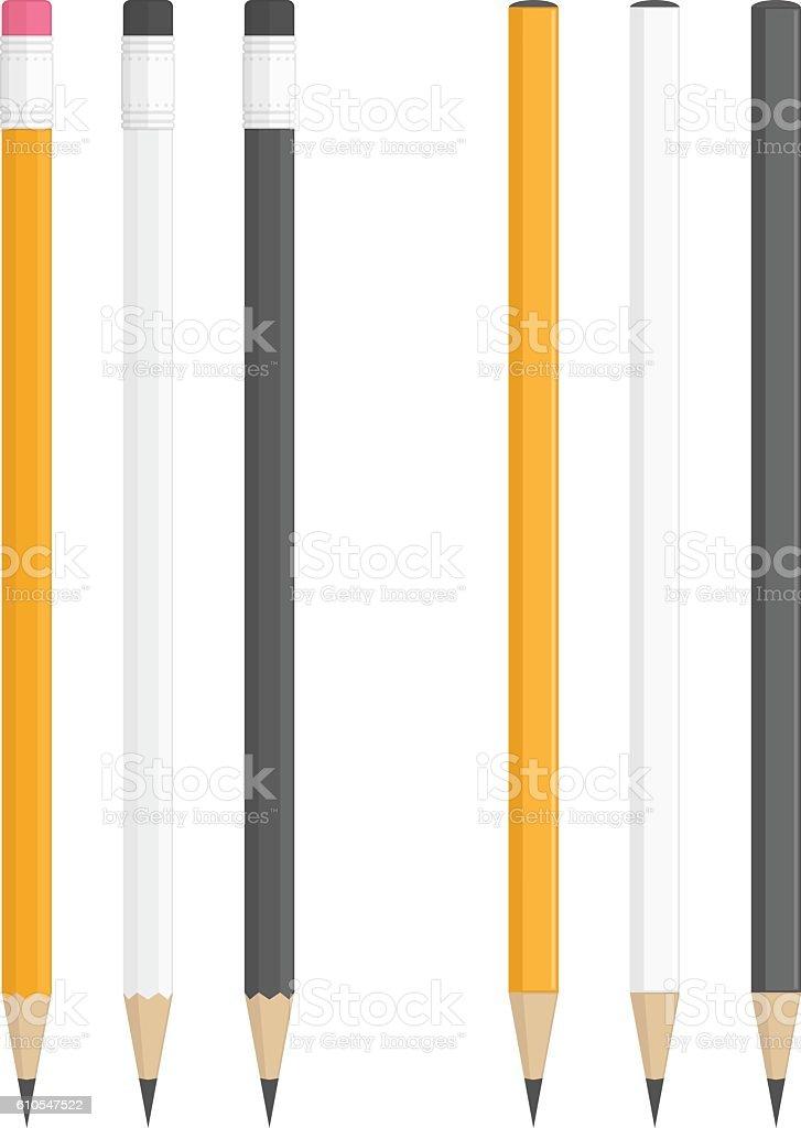 Realistic vector pencils. vector art illustration
