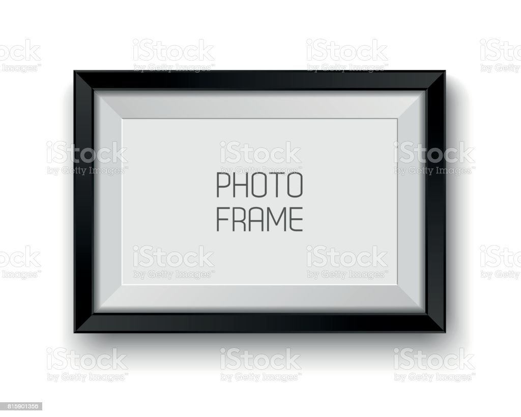 Realistic vector picture frame isolated on white background with blank space for your photo vector art illustration