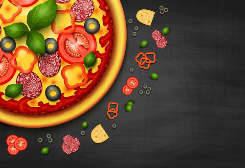 Pizza stock illustrations