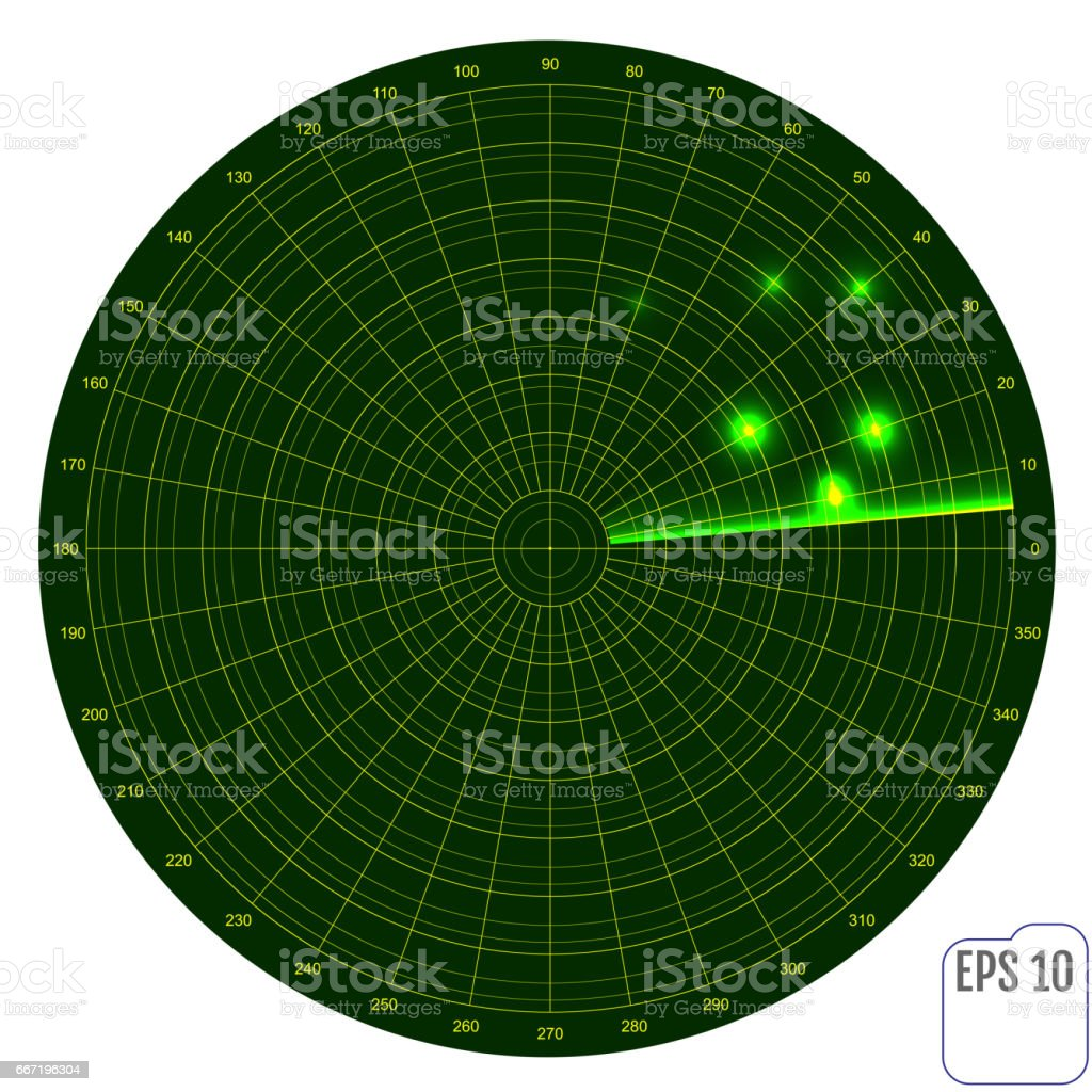 realistic vector radar in searching air search military search