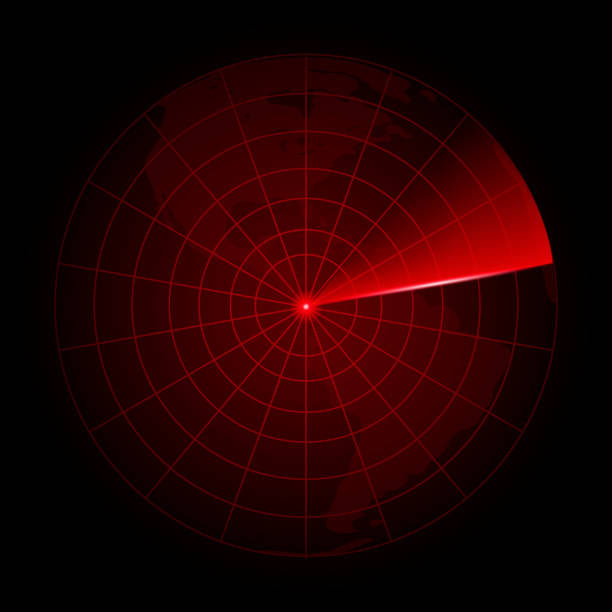 realistic vector radar in searching. vector. - radar stock illustrations