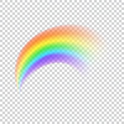 Realistic vector rainbow icon