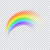 istock Realistic vector rainbow icon 955819284