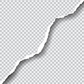 Realistic vector ripped paper with space for your text.