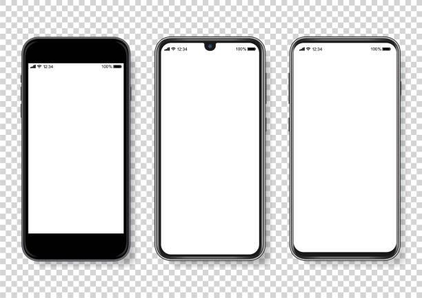 illustrazioni stock, clip art, cartoni animati e icone di tendenza di illustrazione vettoriale realistica dello smartphone - smart phone