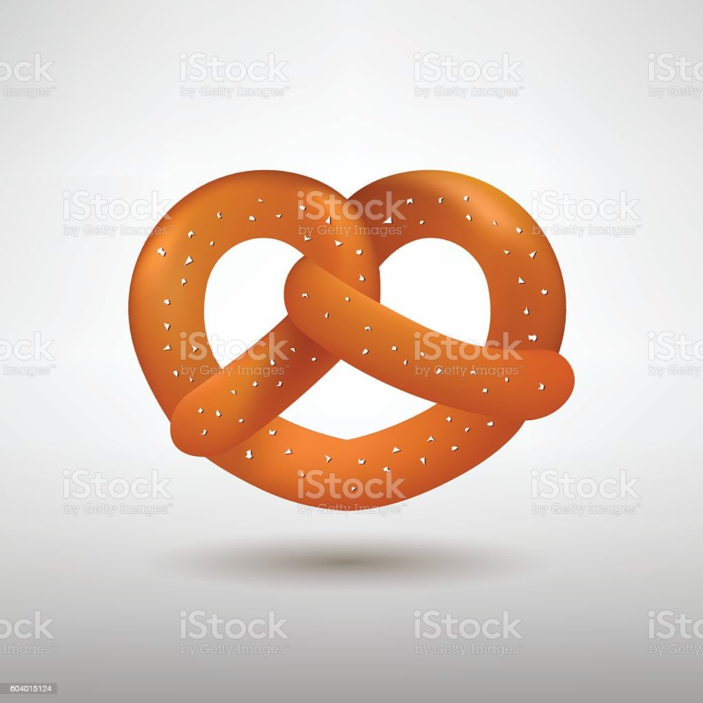Realistic vector tasty pretzel – Vektorgrafik